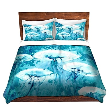 DiaNocheDesigns Luminous Jelly Fish Duvet Set; Twin