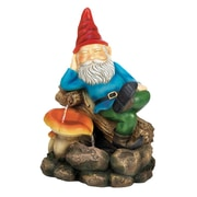 Zingz & Thingz Resin Relaxing Gnome Water Fountain
