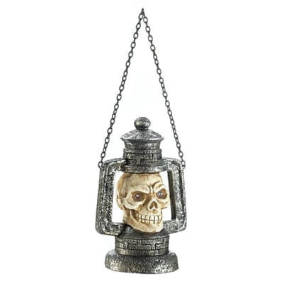Zingz & Thingz Skull Head Polyresin Lantern