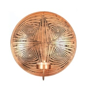 Zingz & Thingz 1-Light Geometric Circles Plate Iron Sconce
