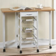 Zingz & Thingz Kitchen Cart w/ Wood Top