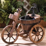 Zingz & Thingz Wood and Iron Tricycle Water Fountain
