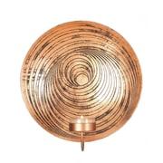 Zingz & Thingz 1-Light Dizzy Circle Design Plate Iron Sconce