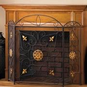 Zingz & Thingz Splendor 3 Panel Iron Fireplace Screen