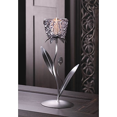 Zingz & Thingz Iron and Glass Candlestick