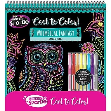 Shimmer 'n Sparkle Cool to Color, Whimsical Fantasy