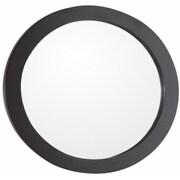 Bellaterra Home Round Framed Bathroom/Vanity Wall Mirror; Espresso