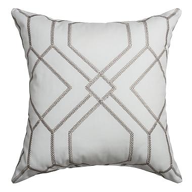 Softline Home Fashions Sierra Decorative Throw Pillow; Silver
