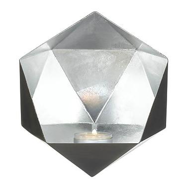 Zingz & Thingz Geometric Iron Sconce; Silver