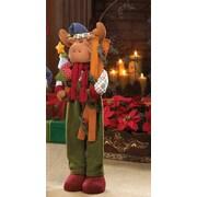 Zingz & Thingz 2 Piece Holiday Moose Plush Decor Set