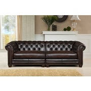 Amax Bakersfield Leather Loveseat