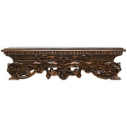 Hickory Manor House Open Leaf Bed Crown Wall D cor; Bronze