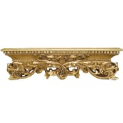 Hickory Manor House Open Leaf Bed Crown Wall D cor; Gold Leaf