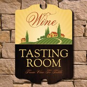 Home Wet Bar Tasting Room Wooden Wine Sign Wall D cor; Medium