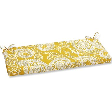 Pillow Perfect Addie Bench Cushion; Yellow