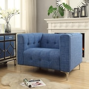 Inspired Home Co. Seurat Tufted Club Chair; Blue