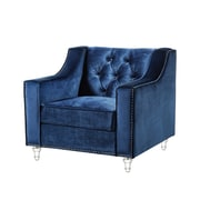 Inspired Home Co. Marlowe Tufted Club Chair; Blue