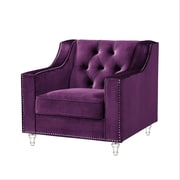 Inspired Home Co. Marlowe Tufted Club Chair; Purple
