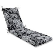 Pillow Perfect Addie Chaise Lounge Cushion; Black