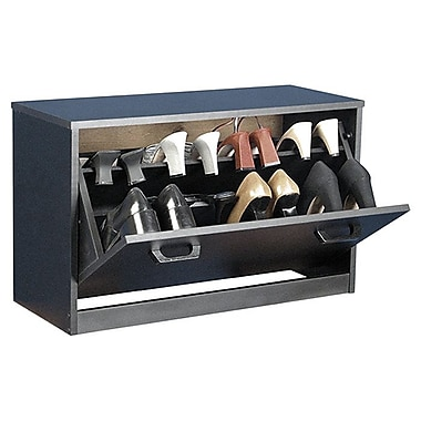 Rebrilliant Single Shoe Cabinet; Black