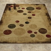 Casamode Functional Furniture Elegant Modern Contemporary Beige/Brown Area Rug