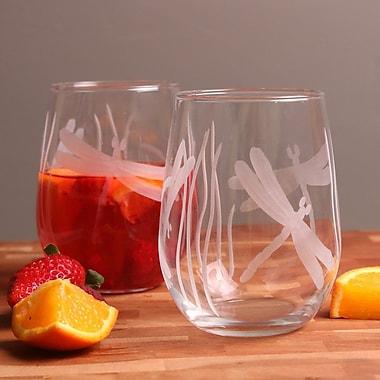 Rolf Glass Dragonfly 17 Oz. Stemless Wine Glass (Set of 4)