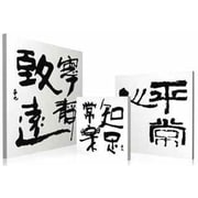 Artistic Bliss 'Chinese Characters' 3 Piece Photograph Multi-Piece Image on Wood