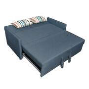 Latitude Run Corvallis Pull Out Sleeper Sofa; Blue