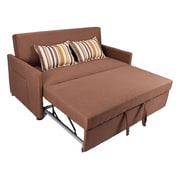 Latitude Run Corvallis Pull Out Sleeper Sofa; Cafe