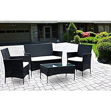 IDSOnlineCorp 4 Piece Lounge Seating Group w/ Cushions