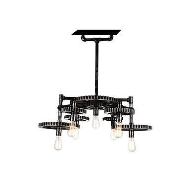 CrystalWorld Oder 7-Light Candle-Style chandelier
