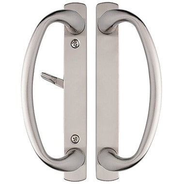 Rockwell Security Charlotte Privacy Push/Pull Plate; Satin Nickel