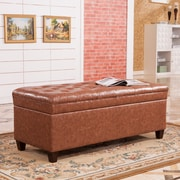 Darby Home Co Dail Storage Bedroom Bench; Saddle Brown