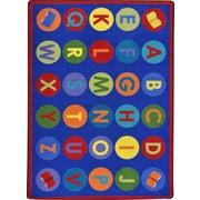 Joy Carpets Library Dots Blue Area Rug; 7'8'' x 10'9''