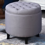 Belleze Storage Ottoman; Gray