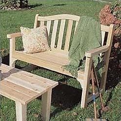 Rustic Cedar Cedar Camel Back Wood Bench; Clear Coat