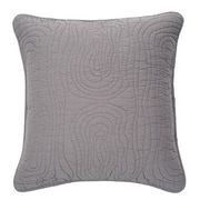 Brunelli Log Cotton Euro Pillow; Gray