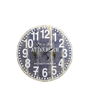 LightLiving Oversized at the Beach 23.5'' Wall Clock