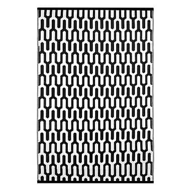 Wildon Home Lightweight Reversible Black/White Indoor/Outdoor Area Rug