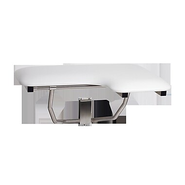 Seachrome Signature Left Hand Left Hand Padded Transfer Shower Seat; 15.5'' H x 28'' W x 22.5'' D