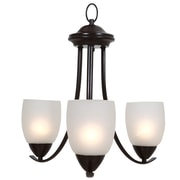 Charlton Home Monrovia 3-Light Shaded Chandelier; Oil Rubbed Bronze