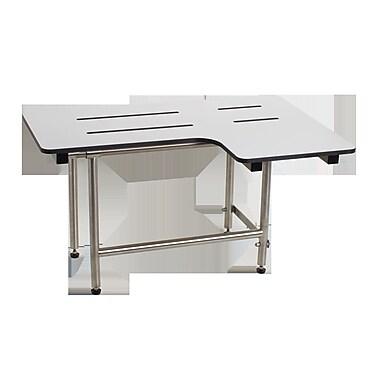 Seachrome Signature Left Hand Transfer Shower Seat w/ Legs; 17.5'' H x 28'' W x 22.5'' D