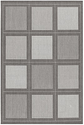 Charlton Home Westlund Gray Indoor/Outdoor Area Rug; 7'6'' x 10'9''