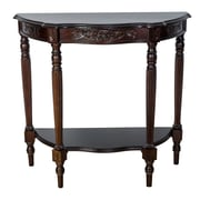 Wayborn Carved Demilune Console Table