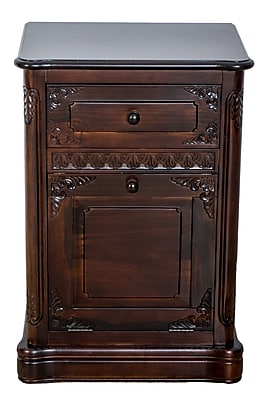 Wayborn Carved 1 Drawer and 1 Door Accent Cabinet