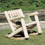 Rustic Cedar Low Back Indoor / Outdoor Cedar Rocking Chair; Natural