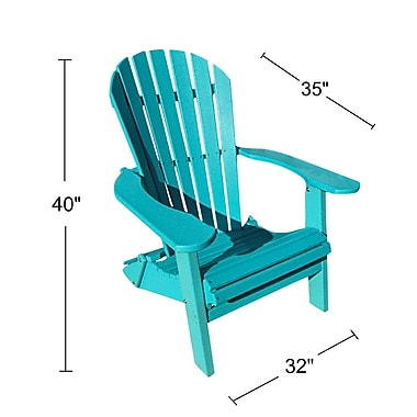 Buyers Choice Phat Tommy Adirondack Chair; Island Teal