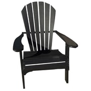 Buyers Choice Phat Tommy Folding Recycled Poly Adirondack Chair; Black