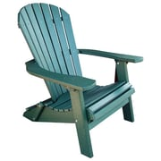 Buyers Choice Phat Tommy Folding Recycled Poly Adirondack Chair; Hunter Green