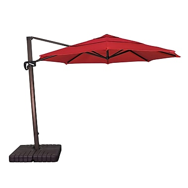 Buyers Choice 11' Phat Tommy Cantilever Umbrella; Jockey Red